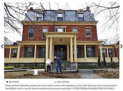 New Bedford's Arnold Mansion secures nonprofit status - Exterior shot of the building